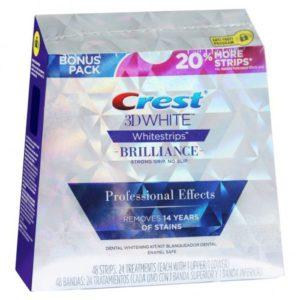 bieliace pásiky Crest Brilliance Professional