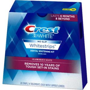 Prúžky na bielenie zubov Crest Glamorous WHITE