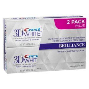 bieliace zubné pasty Crest Brilliance zľava