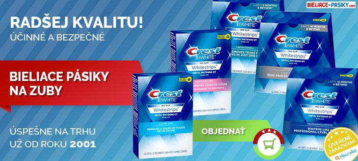 objednajte účinné bielenie zubov pásikmi Crest