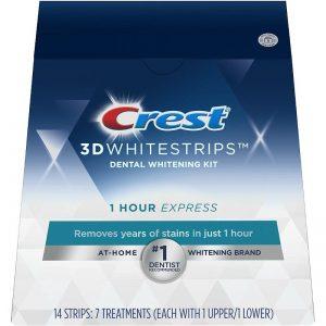 Hodinové prúžky na bielenie zubov Crest 1-hour Express