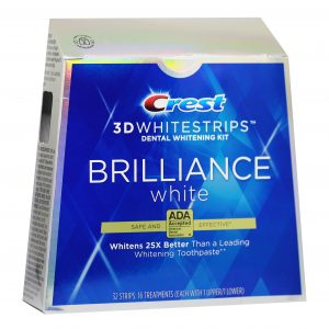 Bieliace pásiky na zuby Crest 3D BRILLIANCE White