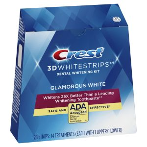Bieliace pásiky na zuby Glamorous White