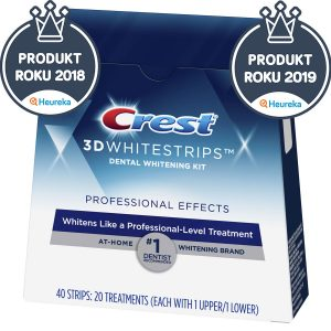Bieliace pásiky na zuby Crest Professional Effects